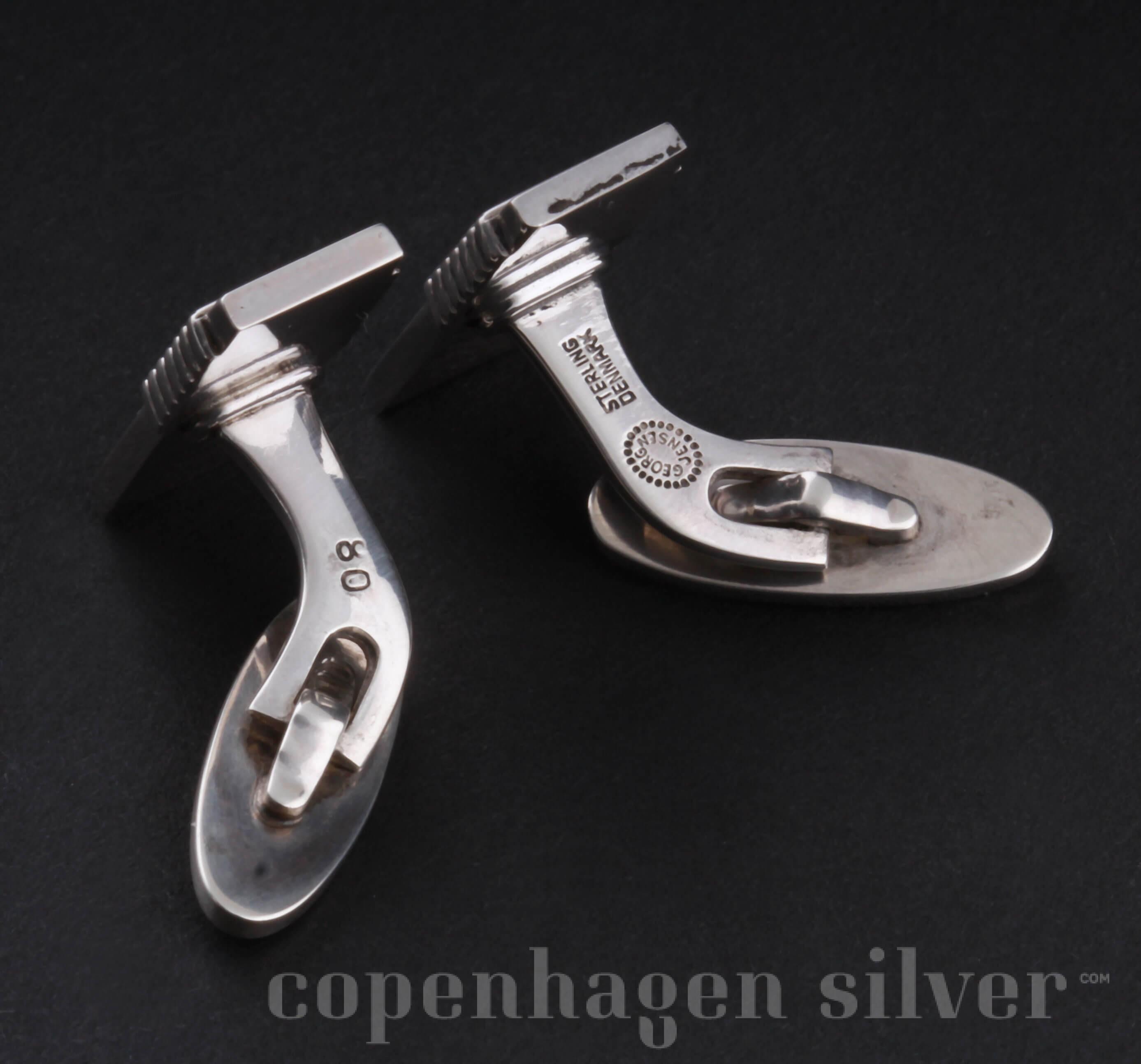 Georg Jensen Sterling Silver Cufflinks 80 Copenhagen Silver