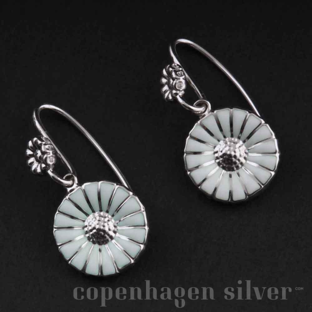 ff22825a3 GEORG JENSEN Rhodinated Daisy Sterling Silver Earrings   Copenhagen ...